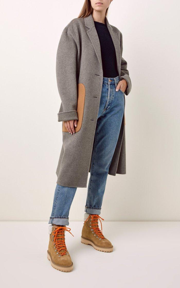 Moda Exclusive Monfumo Shearling Hiking Boots