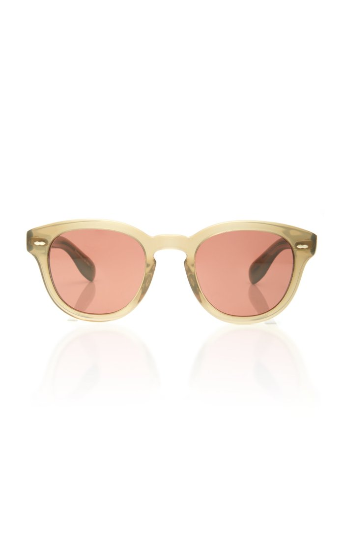 Cary Grant Round-Frame Acetate Sunglasses