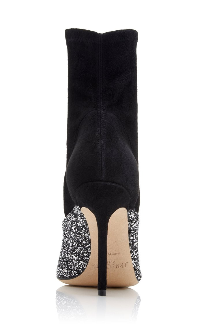 Moda Exclusive Brionna Glitter Suede Ankle Boots