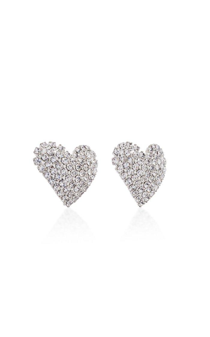 Cupid Heart Crystal Earrings