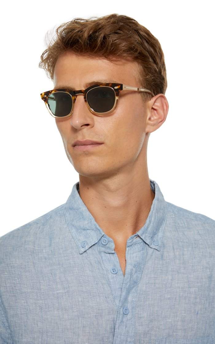 Hanalei Two-Tone D-Frame Acetate Sunglasses