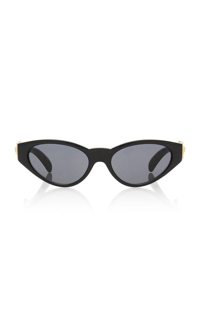 Cat-Eye Frame Logo-Embellished Acetate Sunglasses
