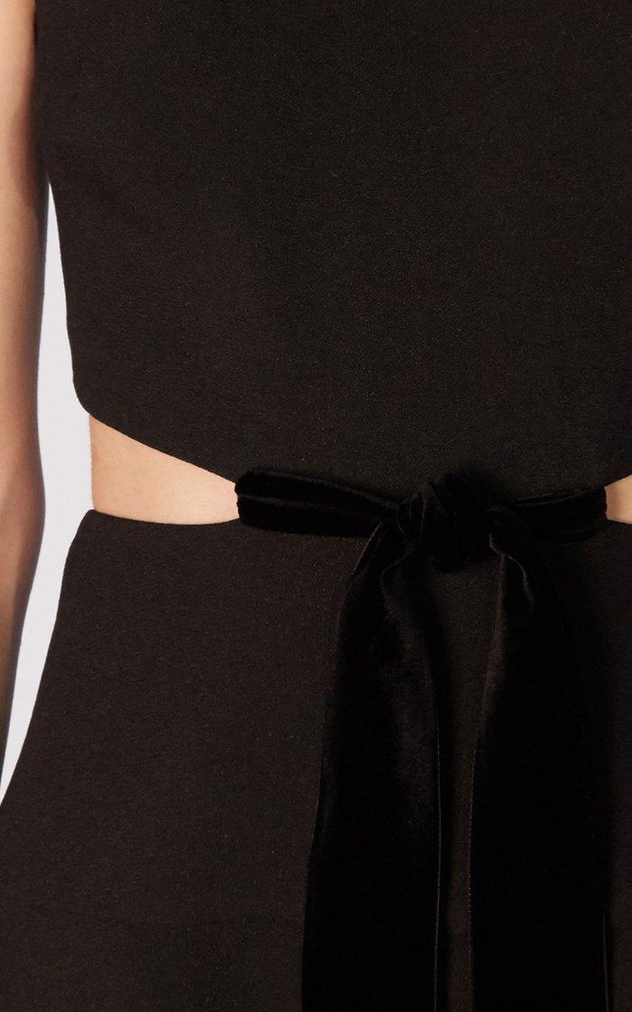 Cut-Out Viscose Crepe Dress