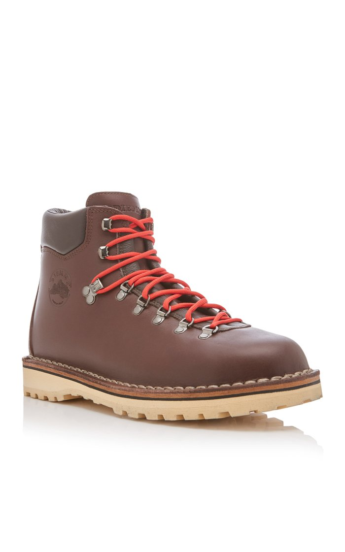 Roccia Brown Leather Hiking Boots