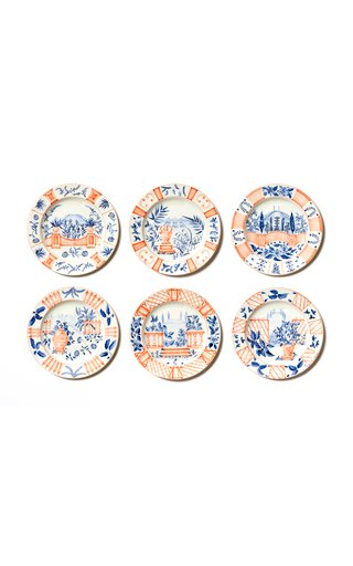 Set Of 6 Italian Views Dessert Plate