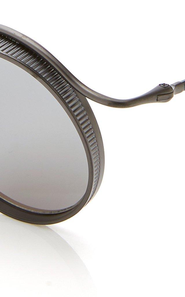 Metal Round-Frame Sunglasses