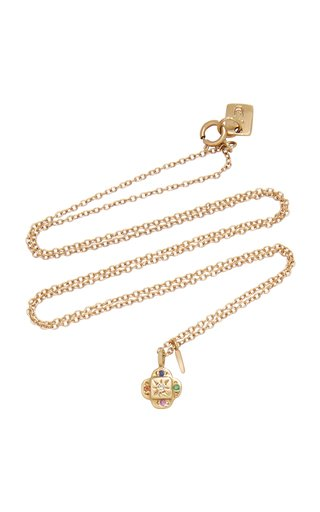 Endless Knot 10K Gold And Multi-Stone Necklace