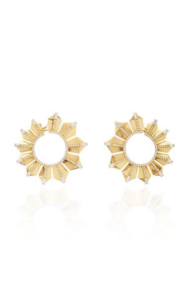 Fame Gold Hoop Earrings