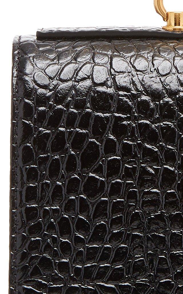 Pump Croc-Effect Leather Bag