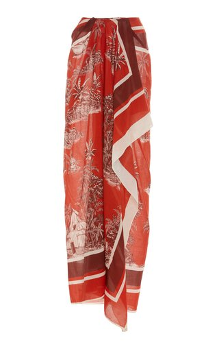 Thatchina Printed Cotton-Voile Pareo