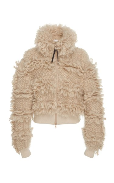 Mohair And Wool-Blend Bomber Jacket