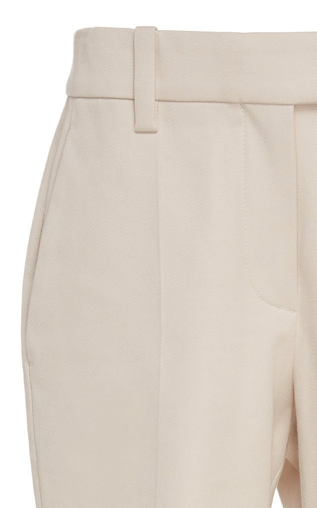 Cropped Stretch-Cotton Flared Pants