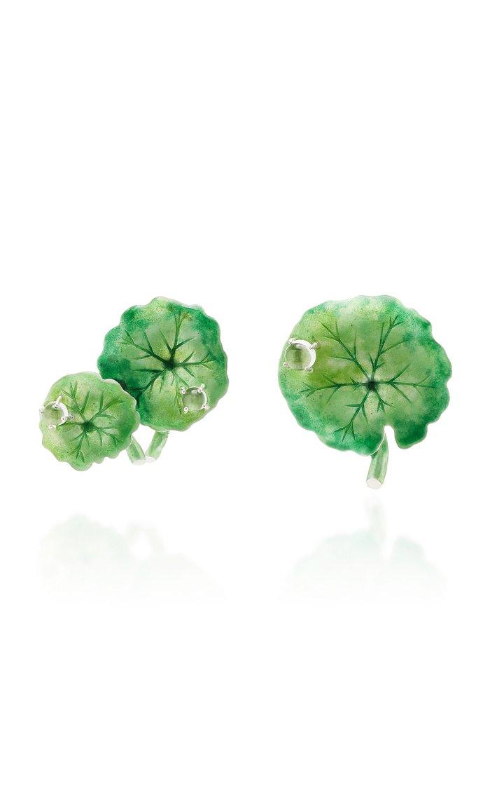 Green Navelwort Earrings