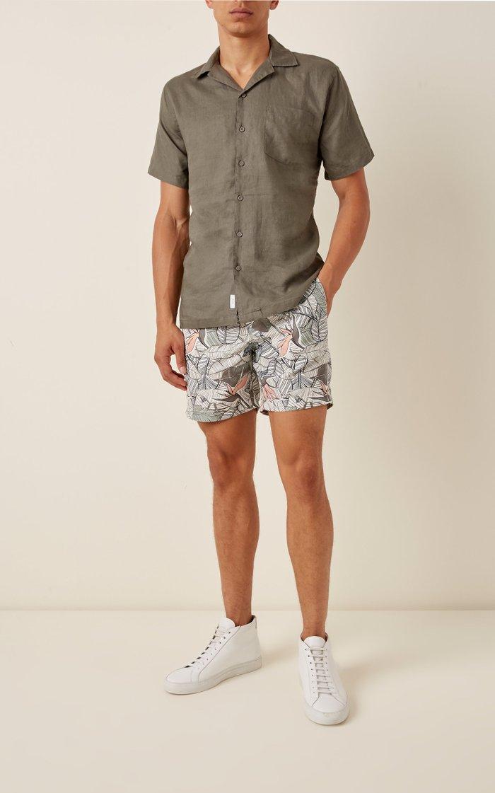 Charles 7 Palm-Print Swim Shorts