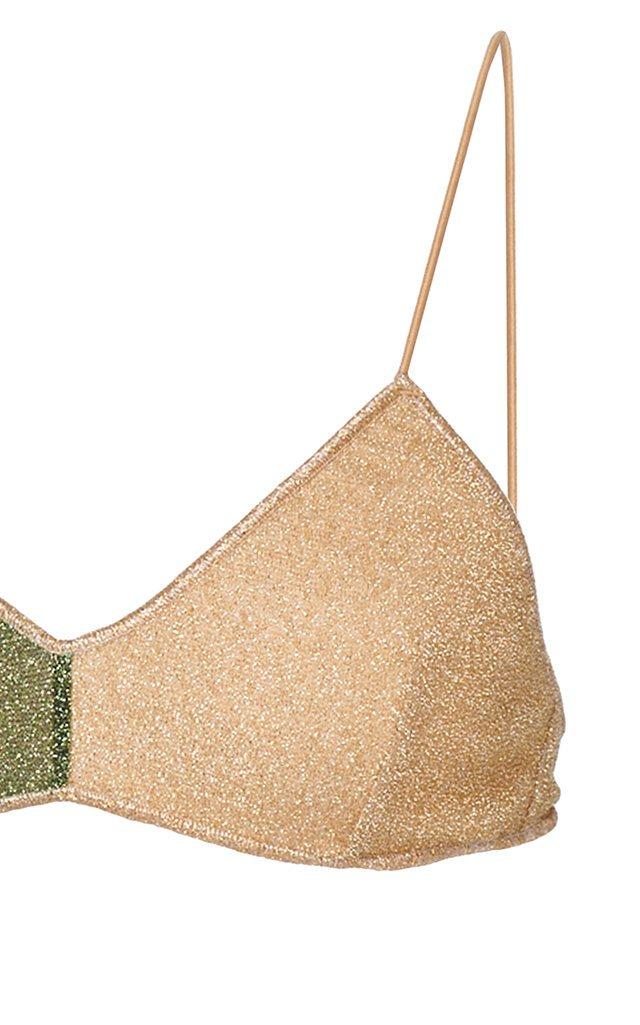 Color-Block Stretch-Lurex Bikini