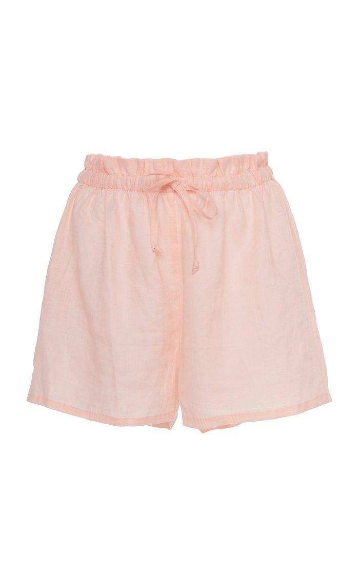 Anja Linen Mini Shorts
