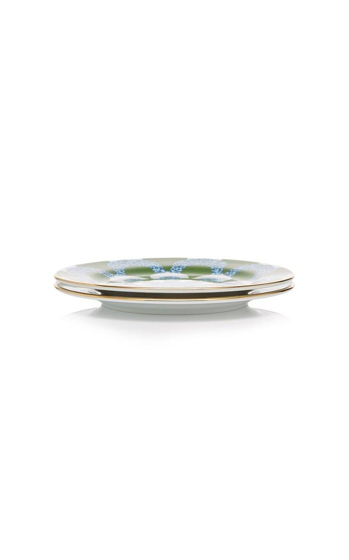 Set-Of-Two Porcelain Dessert Plates