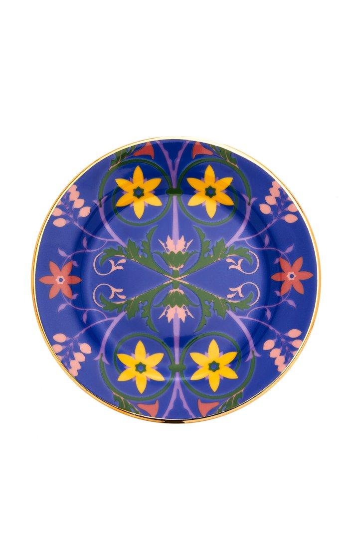 Set-Of-Six Assorted Porcelain Dessert Plates
