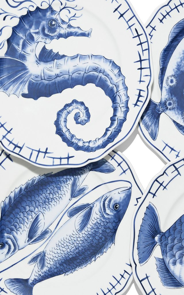 Fish Dinner Plates Set Of 4