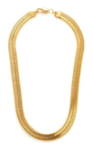 Gold-Tone Brass Collar Necklace