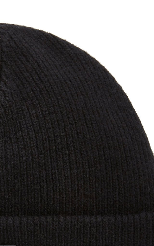 Kansy Appliquéd Ribbed Wool-Blend Beanie