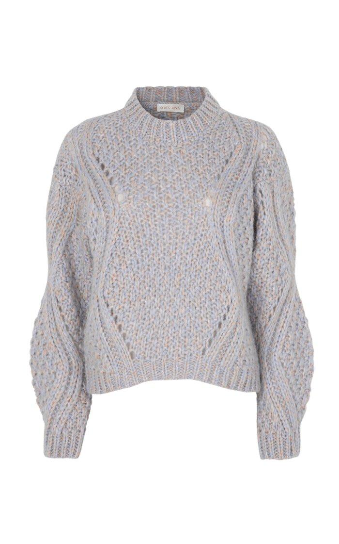 Alex Open-Knit Mohair-Blend Sweater