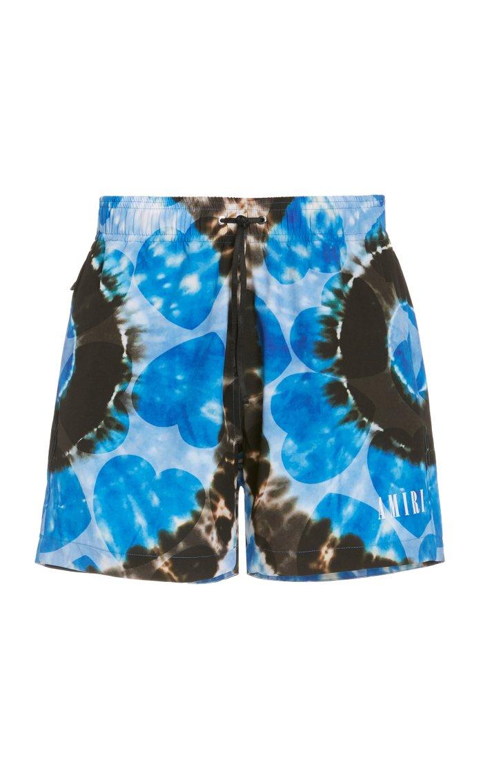 Hearts Tie-Dye Printed Swim Shorts