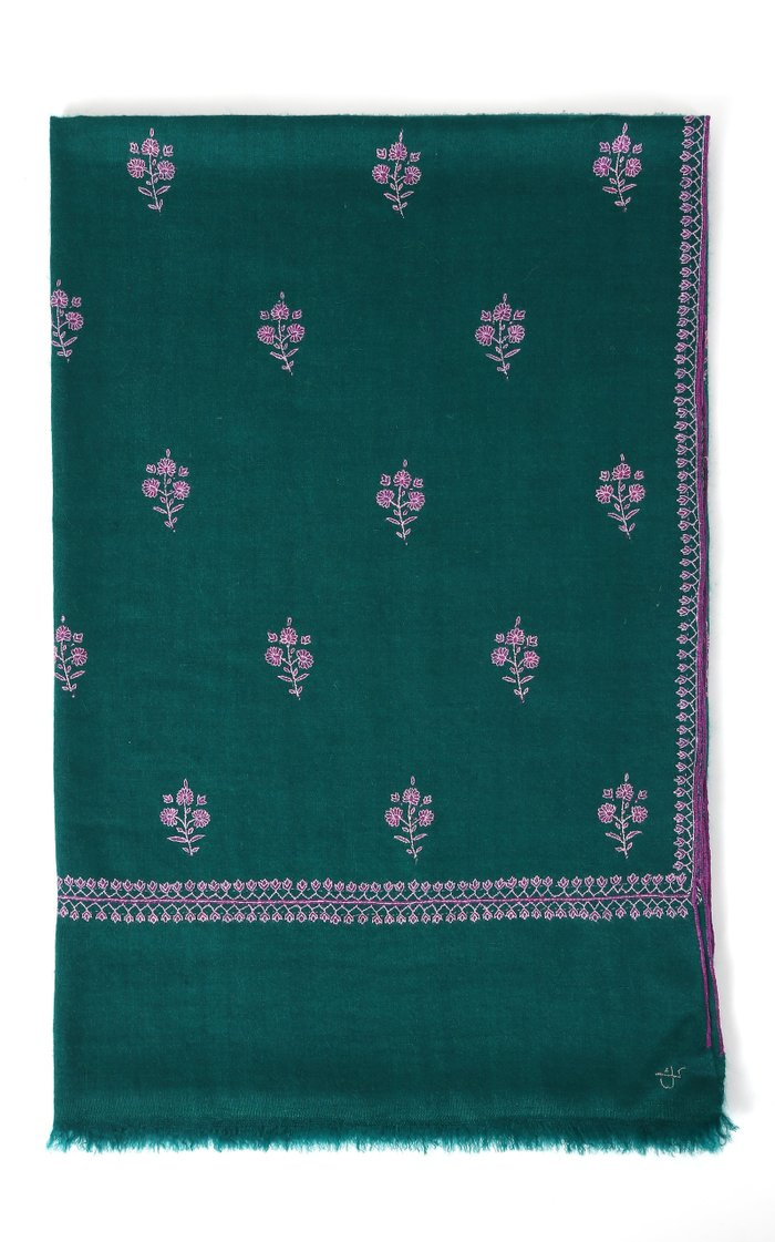 Buta Emerald Cashmere Shawl