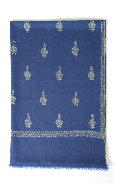 Buta True Blue Cashmere Shawl