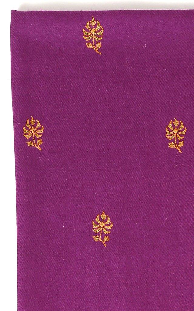Buta Purple Cashmere Shawl