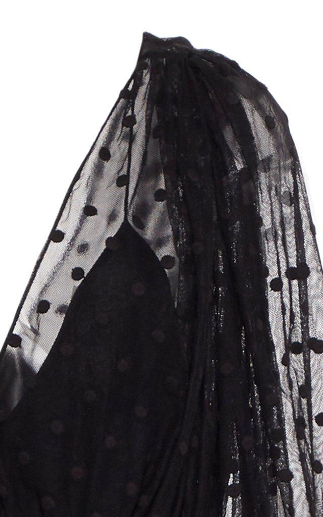 Bernadette Flocked Tulle and Crepe Jumpsuit