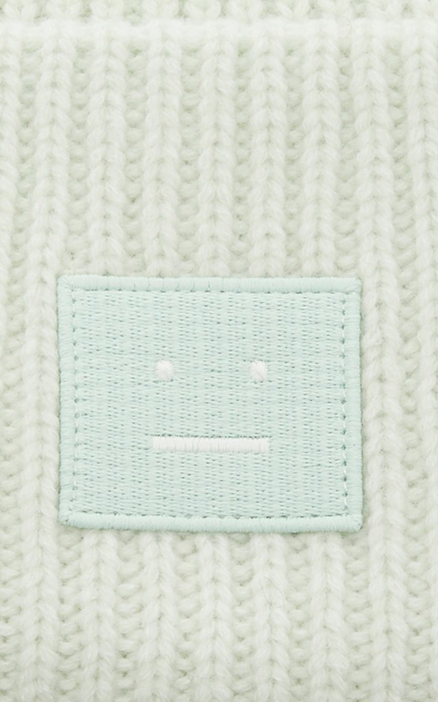 Appliquéd Ribbed Wool Beanie