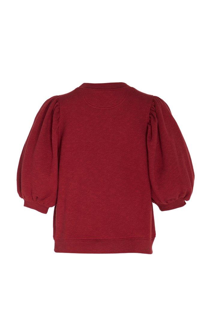 Rami Balloon-Sleeve Cotton Sweatshirt