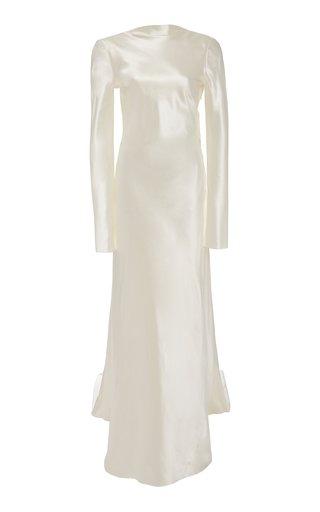 Simone Silk-Blend Gown
