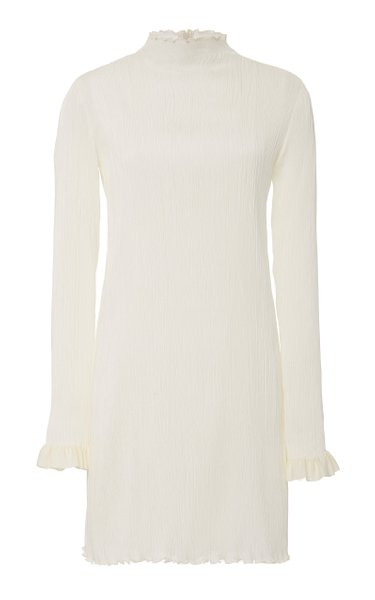 Jamie High-Neck Silk Mini Dress