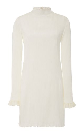 Jamie High-Neck Silk Mini Dress