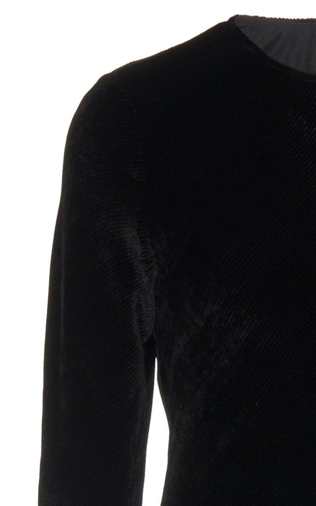 Josephine Velvet Silk-Blend Gown