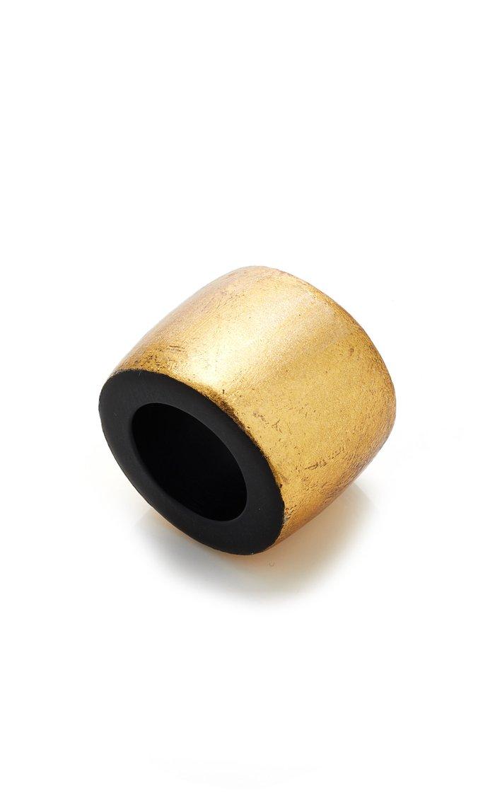 Gretha Gold-Foiled Resin Ring