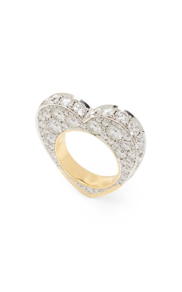 14K White And Yellow Gold And Diamond Ring