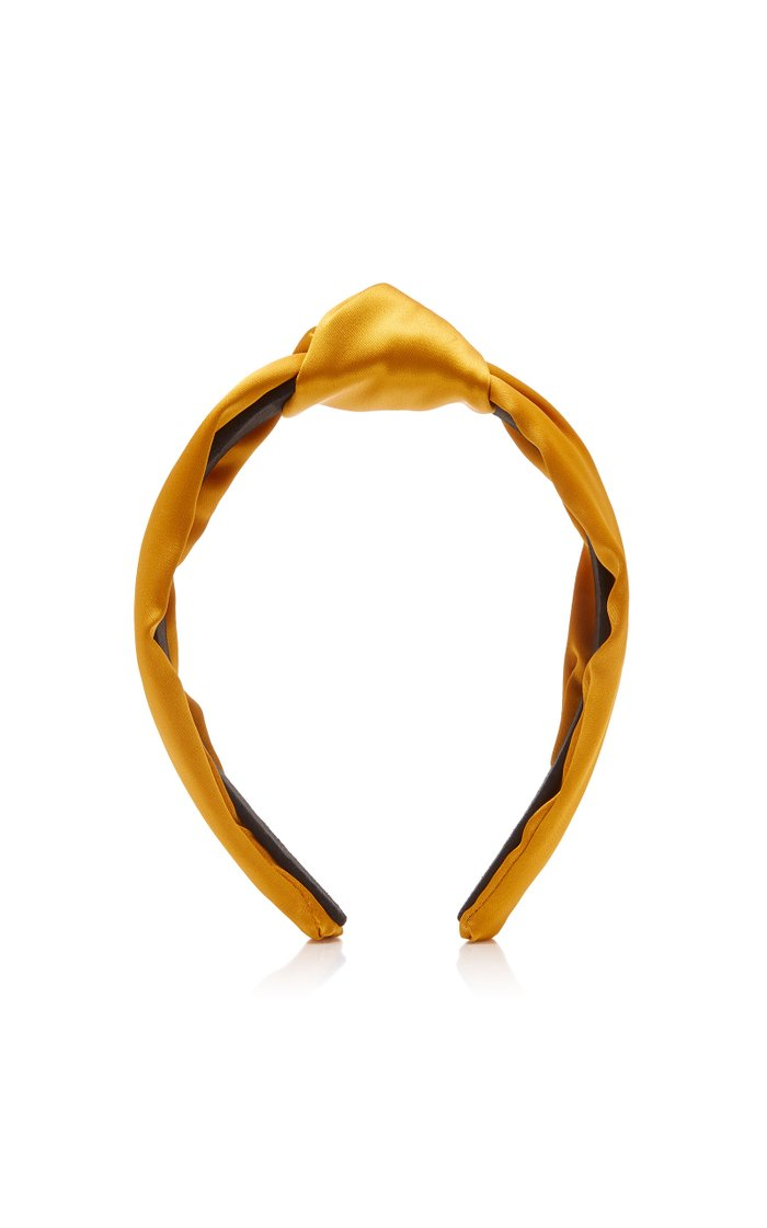 Knotted Silk-Satin Headband