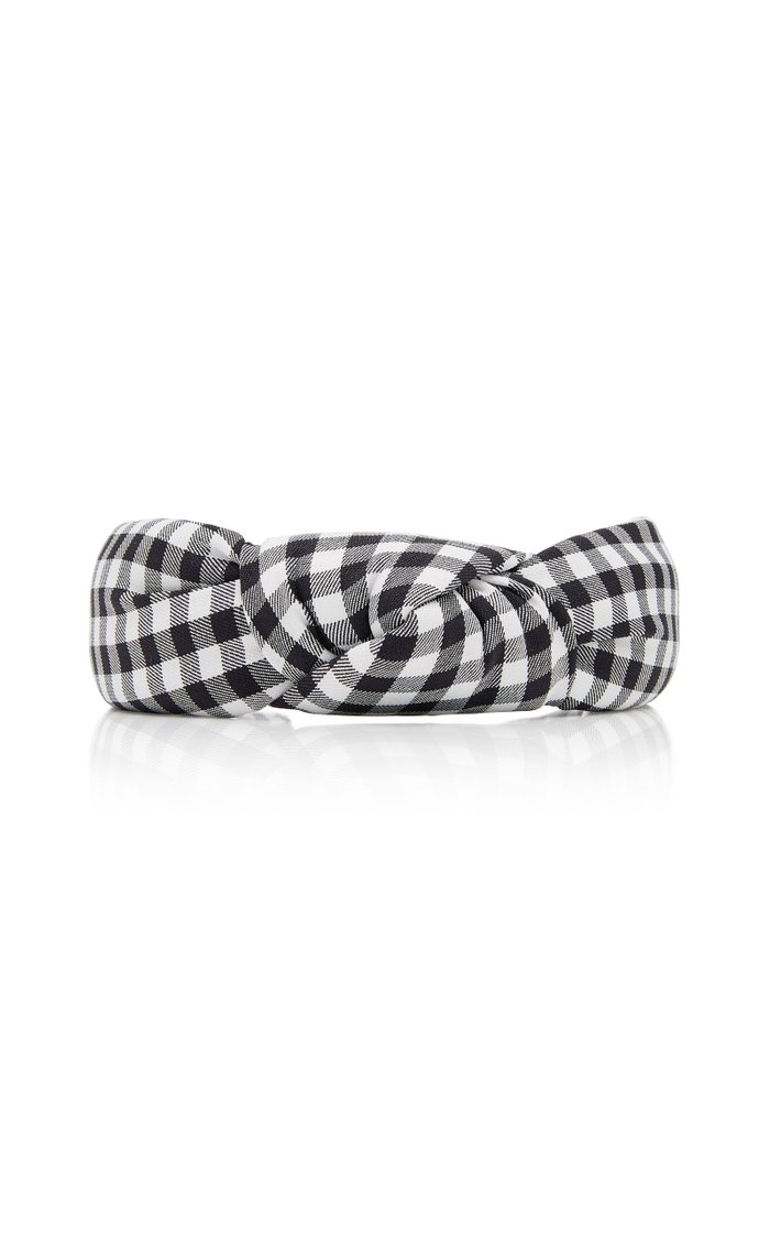 Knotted Gingham Headband