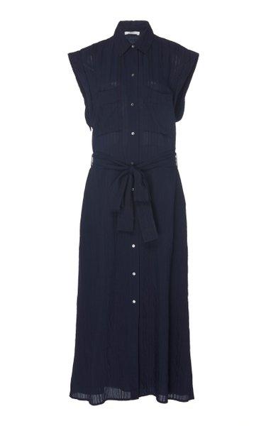 Rolled Sleeve Shirt Dress