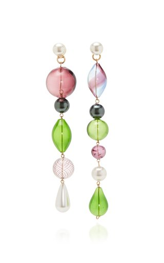 The Masque Glass And Pearl Earrings