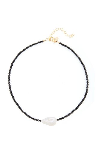 Gold-Filled, Spinel and Pearl Necklace