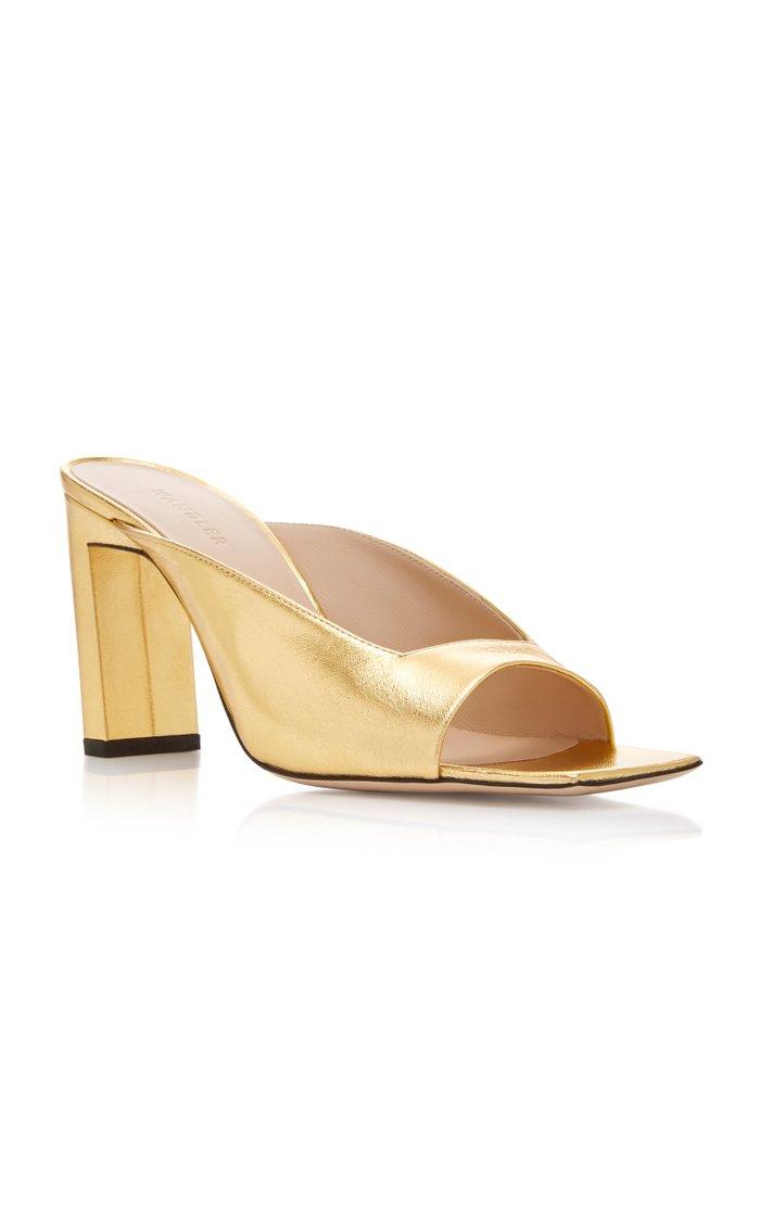 Isa Metallic Leather Sandals