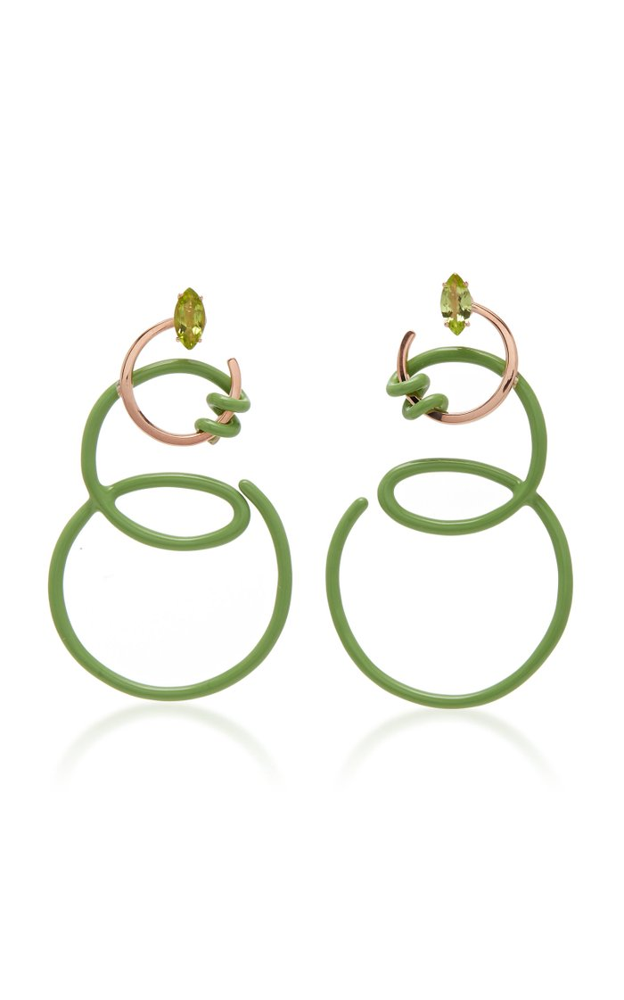 Double Curl Vine Earrings