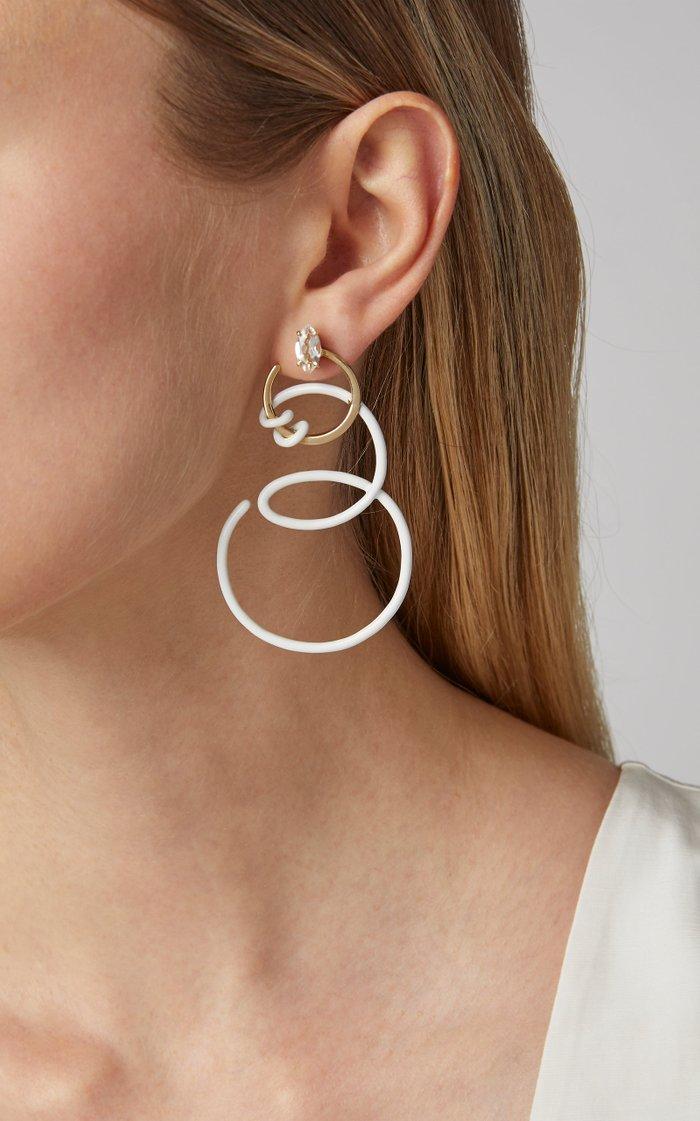Single Curl Vine Earrings