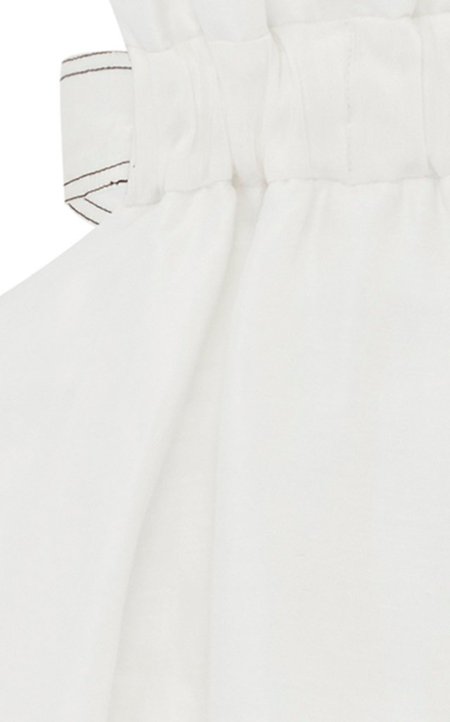 Mimosa Cutout Linen And Silk-Blend Midi Dress