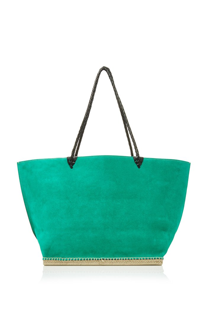Espadrille Large Suede Tote