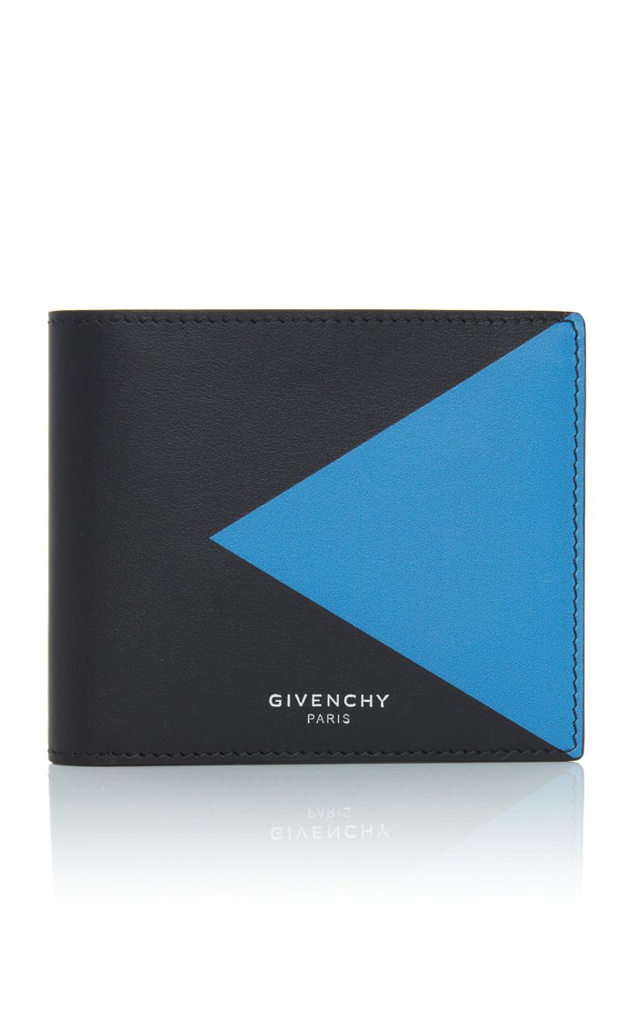 Color-Blocked Leather Wallet